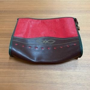 Vintage SOCO Paris Leather Clutch Bag
